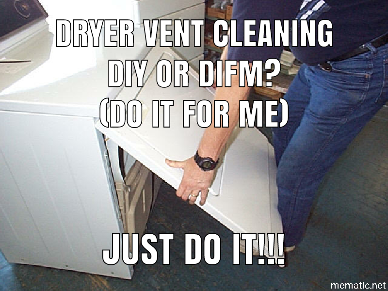 Dryer Vent Cleaning Inside Machine